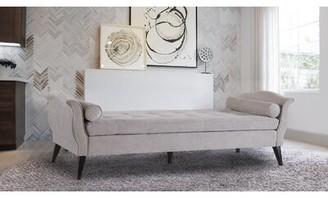 Jennifer Taylor Robinson Upholstered Bench Color: Silver Gray