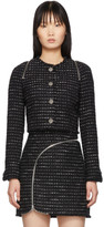 Alexander Wang Black and White Tweed Zipper Jacket