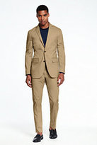 Lands' End Men's Stretch Chino Suit Jacket-Light Caramel