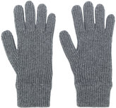 Malo ribbed knitted gloves