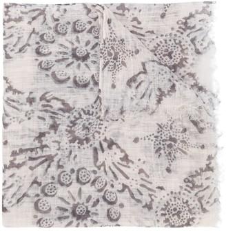 Brunello Cucinelli Floral Print Long Scarf