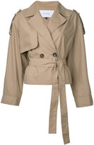 Le Ciel Bleu short trench jacket - women - Cotton/Polyester - 36