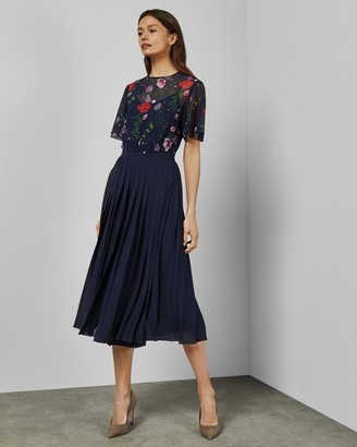 Ted Baker MISTY Hedgerow pleated culotte jumpsuit