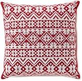 Daniel Cremieux Warm Shop Collection Fair Isle-Embroidered Square Pillow