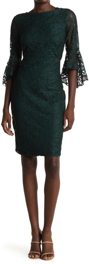 Gabby Skye Bell Sleeve Lace Dress