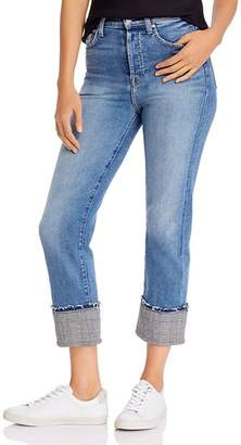 7 For All Mankind Cuffed Plaid-Trim Jeans - 100% Exclusive