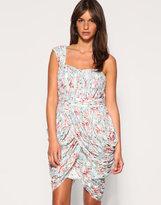Rare Opulence Floral Lace Drape Dress