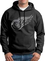 Sarah Men's Detroit Red Wings Platinum Logo Hoodie S