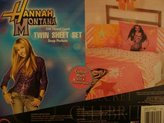 Disney Hannah Montana Pretty Rock Star Twin Sheet Set Pink Sheets with Stars