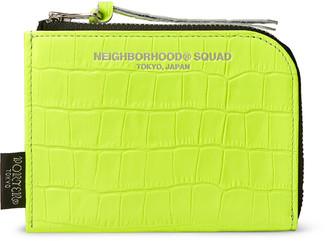 Neighborhood + Porter-Yoshida And Co Croc-Effect Leather Zip-Around Wallet