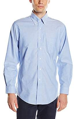 Brooks Brothers Men's Dress Oxford Non-Iron Botton Down Regent Shirt, (Blue 48), (Neck in. 15 Sleeve in. 33)