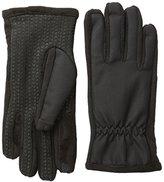 Isotoner Men's Smartouch Matrix Nylon Stretch Gloves