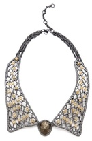 Lace Collar Pyrite Necklace