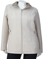 Gallery solid quilted jacket - women's plus