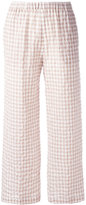 Aspesi checked trousers - women - Cotton/Polyurethane - 40