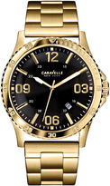 JCPenney CARAVELLE, NEW YORK Caravelle New York Mens Black Round Dial & Gold-Tone Bracelet Watch 44B104