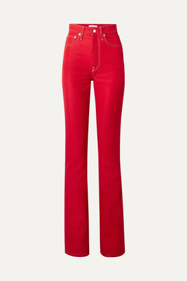 Helmut Lang High-rise Slim-leg Jeans - Red