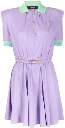 Versace Short-Sleeve Polo Dress