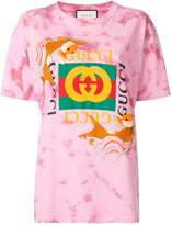 Gucci fish embroidered fake logo t-shirt