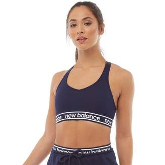 New Balance Womens Pace Bra 2.0 Sports Bra Top Pigment Navy