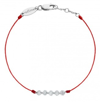 Redline Five Liberty Red String Bracelet - White Gold