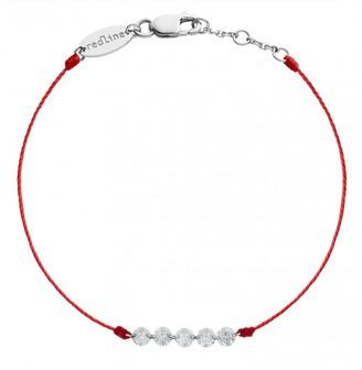 Redline Five Liberty Red String Bracelet - White Gold