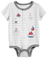 First Impressions Striped Boats Cotton Creeper, Baby Boys (0-24 months)