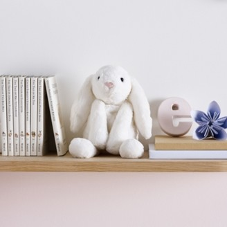 The White Company Jellycat Small Smudge Bunny, White, One Size