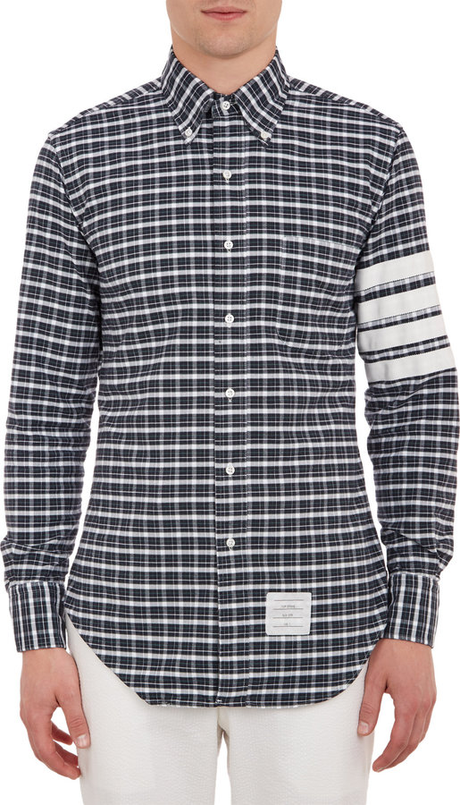 Thom Browne Check-Pattern Oxford Cloth Shirt