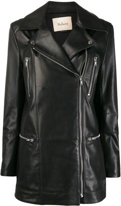 Mulberry Jessie zipped biker jacket