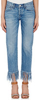 3x1 Women's Straight Crop Jeans-BLUE