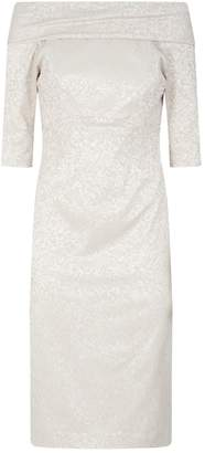 John Charles Jacquard Embroidered Dress