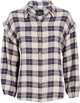 Rails Willow Ruffled Plaid Button-Down Shirt