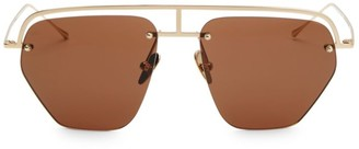 Smoke X Mirrors The Line-1 56MM Aviator Browline Sunglasses