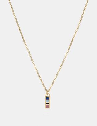 Coach 80'S Retro Alphabet I Charm Necklace