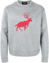 DSQUARED2 embroidered sweater - men - Polyurethane/Viscose - M