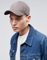 Asos Baseball Cap In Grey