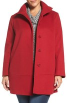 Fleurette Plus Size Women's Loro Piana Wool Car Coat