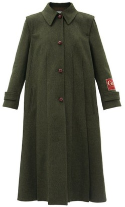 Gucci Single-breasted Wool-blend Coat - Green