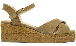 Castaner Blaudell Cotton-canvas Wedge Espadrille Sandals