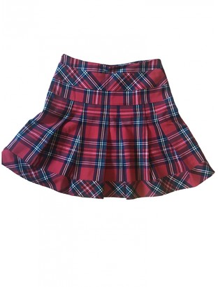 Italia Independent Red Cotton Skirt for Women