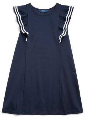 Ralph Lauren Ruffled Stretch Ponte Dress