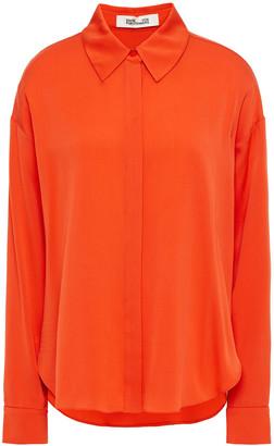 Diane von Furstenberg Leanna Stretch-silk Crepe De Chine Shirt