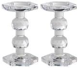 """A&B Home Faceted Glass Pillar Candlestick - 10"""""""