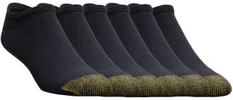 Gold Toe Cotton Cushion Big & Tall No Show Socks 6-Pack