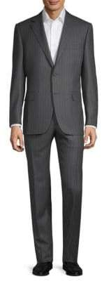 Canali Classic Stripe Wool Suit