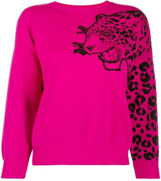 RED Valentino Leopard Embroidery Jumper