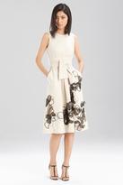 Josie Natori Stretch Cotton Linen Dress