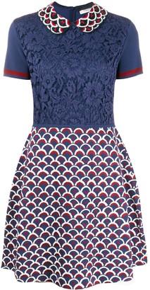 Valentino Lace Logo Dress