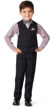Nautica Little Boys Solid Textured 4 Piece Vest Set